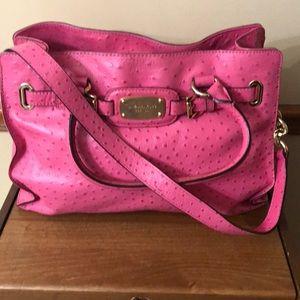 MK large Hamilton east west ostrich pink handbag